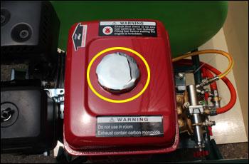 動力噴霧器/動噴 FT360の燃料タンク