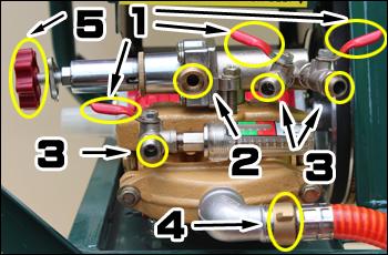 動力噴霧器/動噴 FT360のポンプ回り