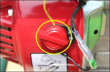 動力噴霧器/動噴 FT360のエンジンスイッチ