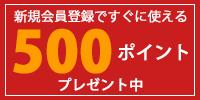 500ポイントプレゼント中